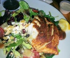 Crusted Grouper salad plate