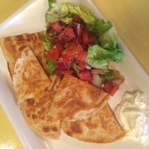 Ali's kids meal quesadilla, age 3