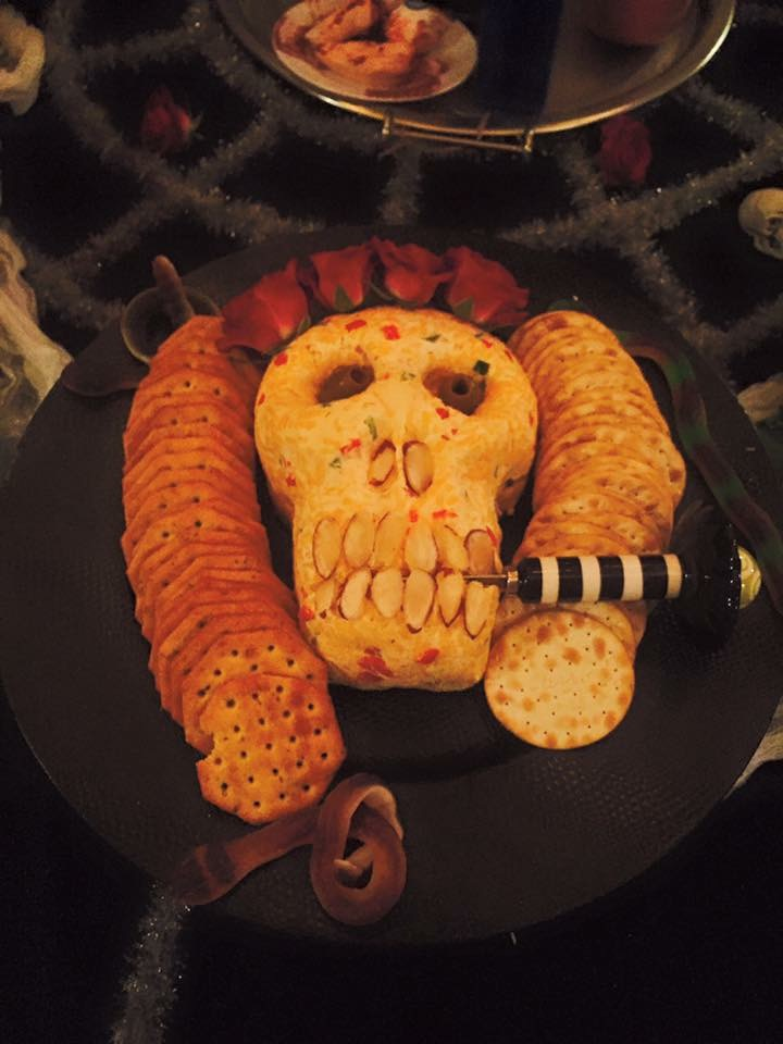 Skeleton cheese spread